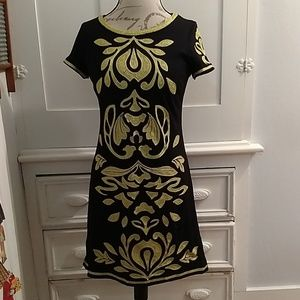 I.N.C. black embroidered dress Sz M